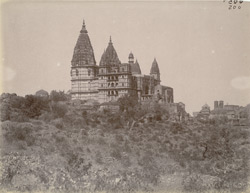 View from the south-east of the Chaturbhuj Temple, Orchha. 10031514